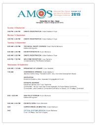 2015 AMOS Program Schedule